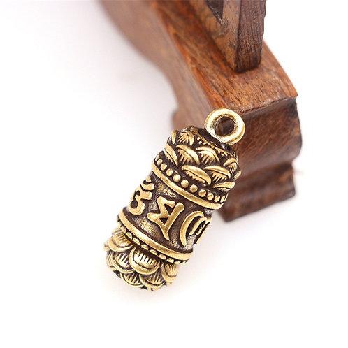 Pingente Amuleto de cobre com mantras