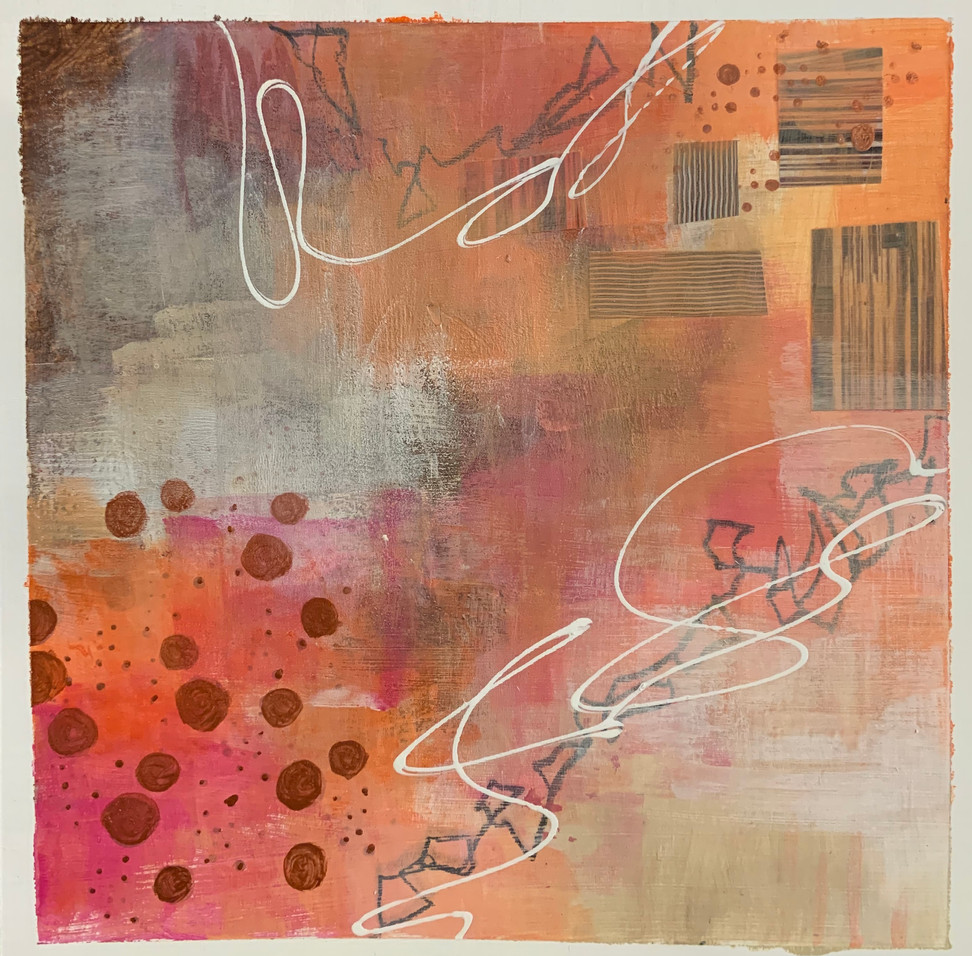 Mixed Media Collage Works on Paper