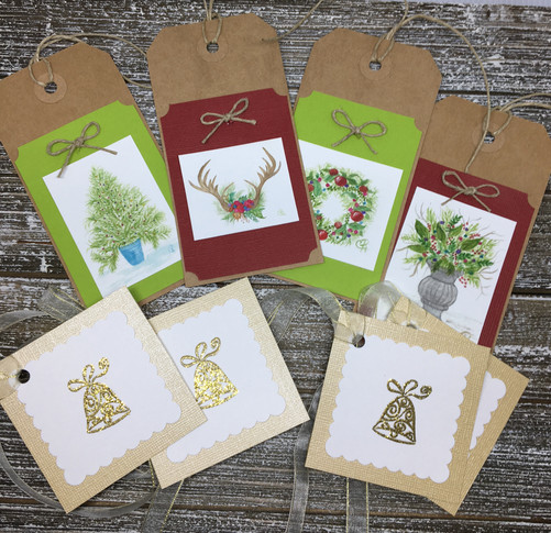 Traditional Holiday Tags