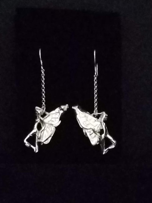 Silver Fairy Frenzy Earbobs