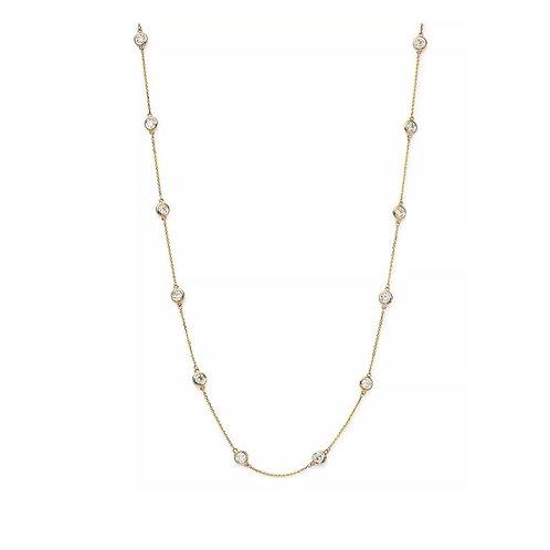 Diamond Station Necklace 14kt