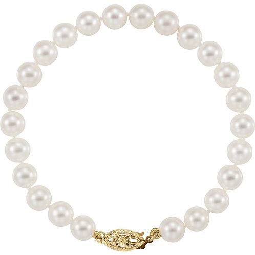 Akoya 6-6.5MM 7.75inch Bracelet