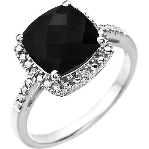 14kt Genuine Gemstone & Diamond Ring