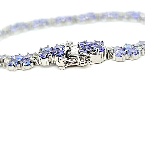 12.50 CTW Tanzanite and White Topaz Bracelet