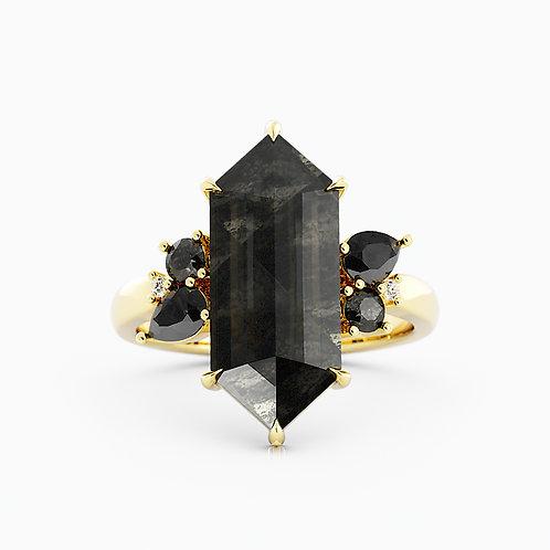 Black Salt & Pepper Couture diamonds in 14kt Gold