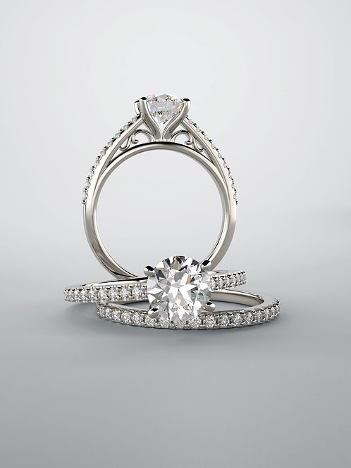 """""""Cathedral"""" 14kt White Gold"""