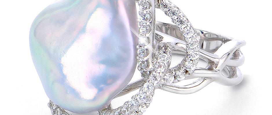 Nucleated Baroque Freshwater Pearl Ring