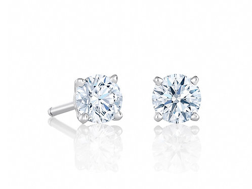 1/2 Ct Diamond Stud( Regality Light Performance Rated Top 5%) G-I Si1-3