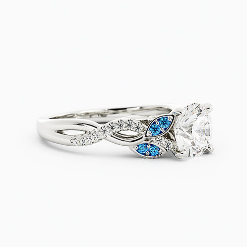 Elegant nature looks with diamonds