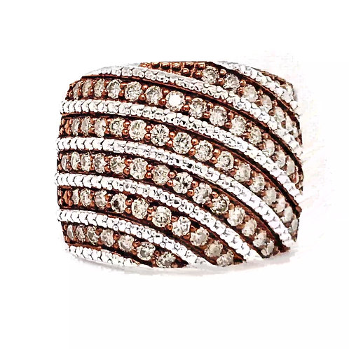 Champagne & White Diamond Mega Ring **Late Addition**