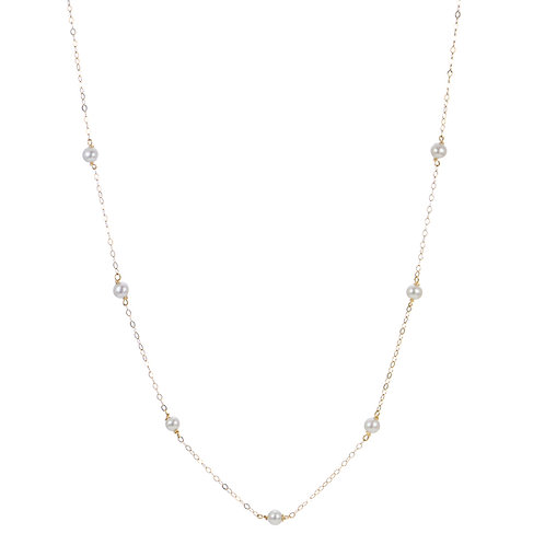 """18"""" Fresh Water Pearls in Silver or Gold"""