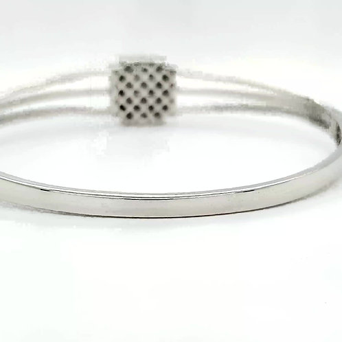 Blue Diamond Bracelet in Sterling Silver