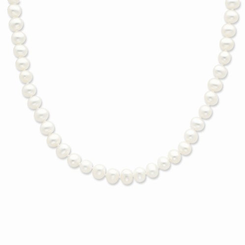 16inch Freshwater White Pearl Necklace Sterling Silver Clasp