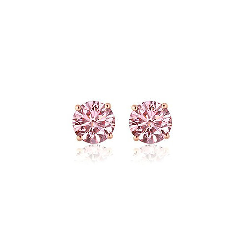 Pink Diamond Studs