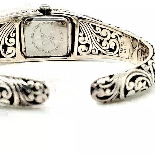 """Bali"" 18kt White Gold, Sterling Silver Watch"