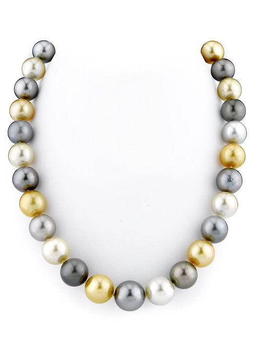 Tahitian Pearls 8-10mm Round A Multicolored South Sea Cultured Pearls