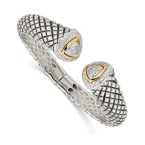 14kt Gold & Sterling Silver Bracelet with 1/2 Ct Diamonds
