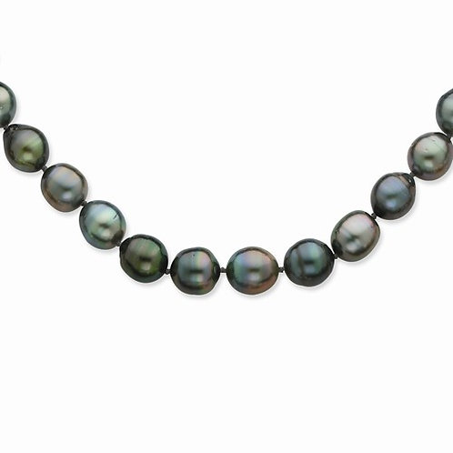Barouque Tahitian Pearl Necklace 8-11MM in 14kt
