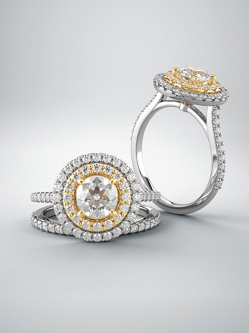 """""""Dynasty"""" 14kt White & Yellow Gold"""
