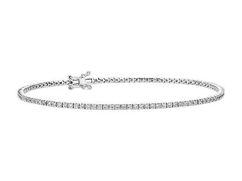 1ctw Thin Line Tennis Bracelet 14kt