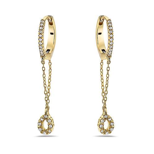 Diamond Drop earrings in 14kt