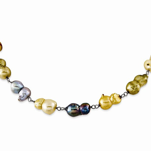 MultiColor Freshwater Pearl Necklace 10MM