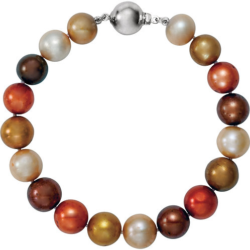 """Freshwater Cultured Chocolate Pearl 7.75"""" Bracelet (10-11MM)"""