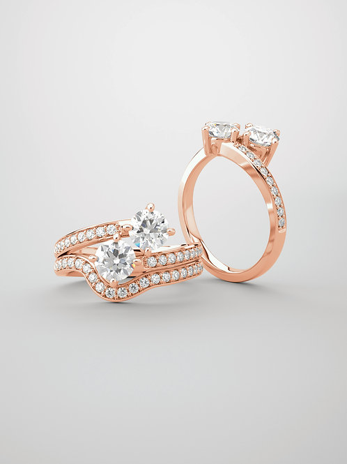 """Geminos"" 14kt Rose Gold"