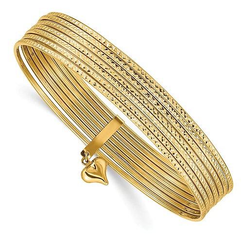 14kt 7 Bangle Bracelet
