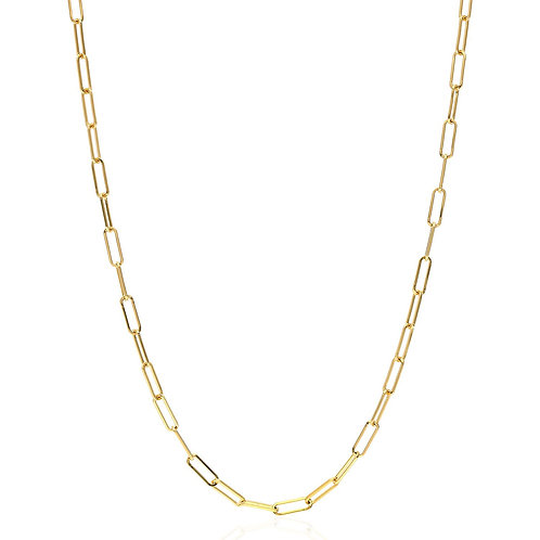 14kt Gold Paper Clip Chain Necklace