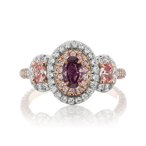 0.43-carat Purple Diamond Ring with Argyle Pink Diamonds
