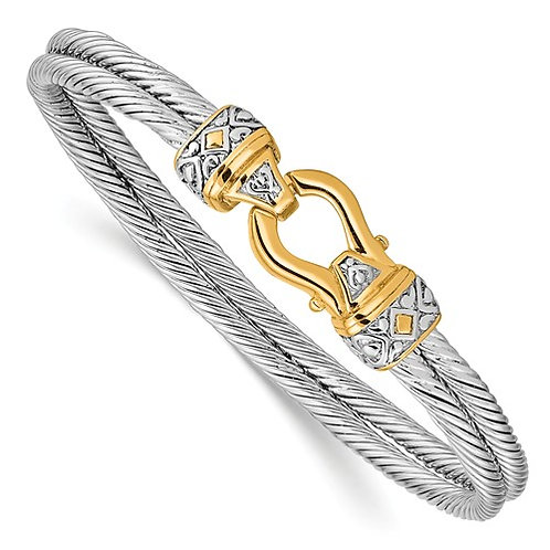 Sterling Silver Antique Hook Bracelet