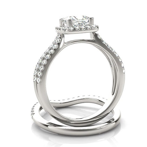 1 CT+ Halo Multi Row Regality Diamond Ring