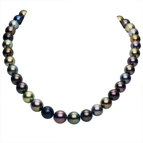 """Tahitian Multi Color Pearls (Dark) 18"""""""