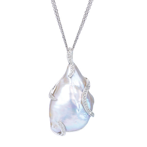 Nucleated Baroque Freshwater Pearl Necklace