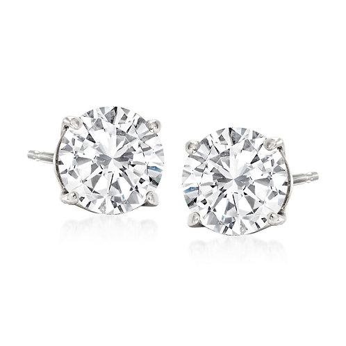 1.5Ctw Diamond Stud Earrings