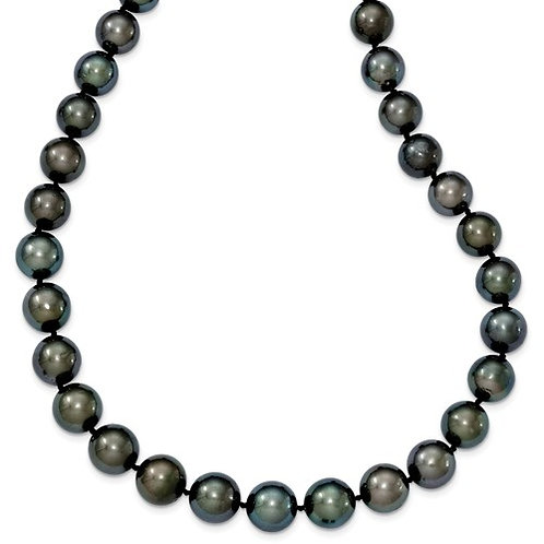 Tahitian Pearl Necklace 19in 14kt White Gold
