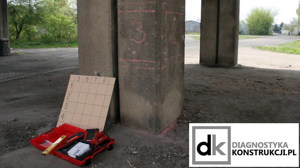 Miejsce wykonania obrazowych skanów konstrukcji (Imagescan) na słupie