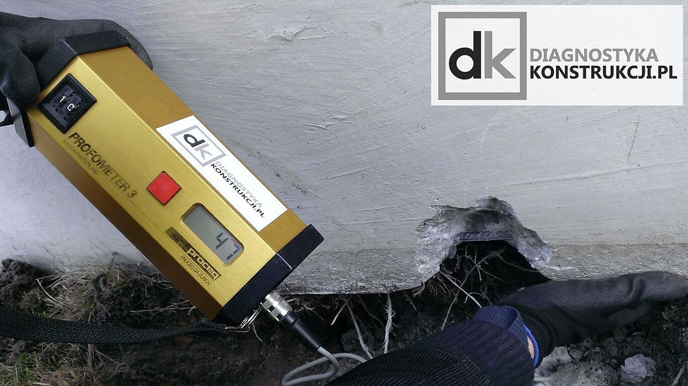 Detekcja zbrojenia w trudno dostępnych miejscach detektorem Proceq Profometer 3
