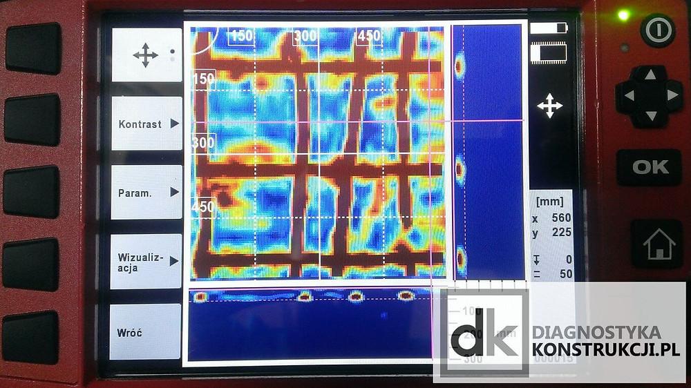 Hilti X-Scan PS1000 skan konstrukcji stropu żelbetowego monolitycznego
