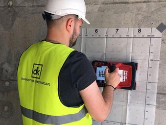 Hilti X-Scan PS1000 skanowanie betonu