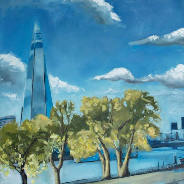 I miss my commute: the shard with trees