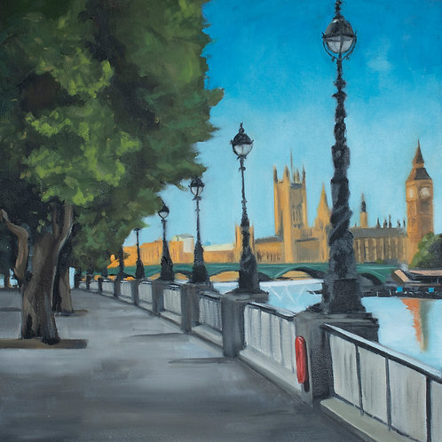 Embankment Looking to Parliament