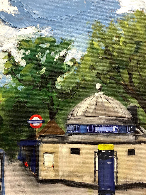 Clapham Common Tube station, when I learned to draw