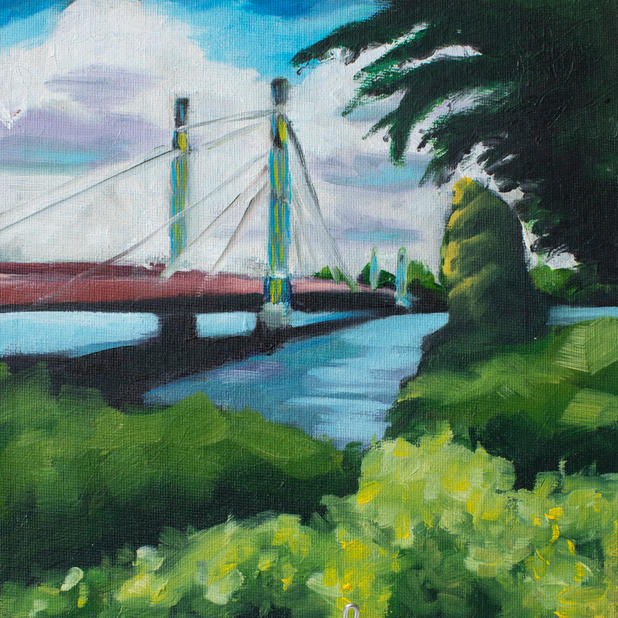 The Albert Bridge with trees