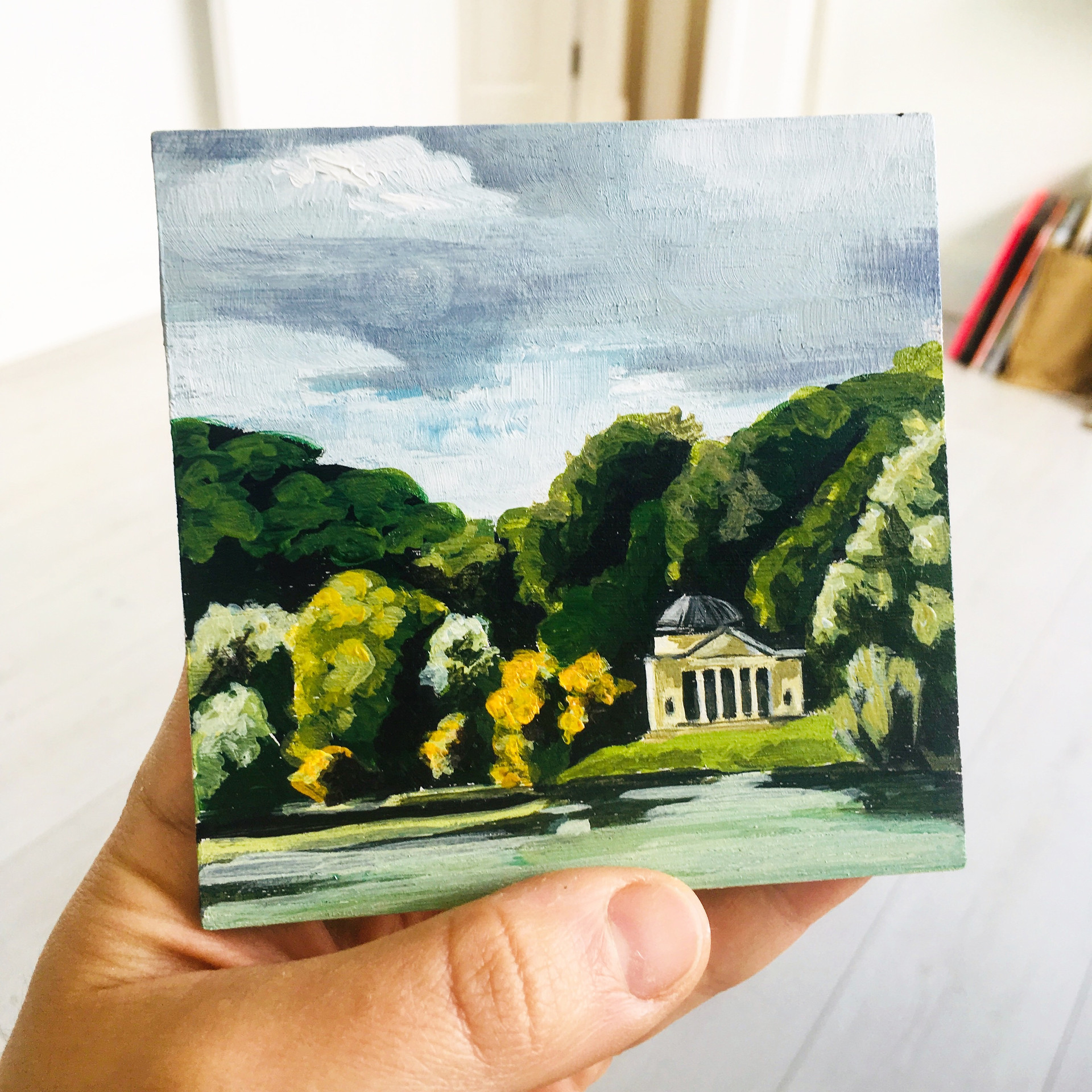 Stourhead in the palm of my hands