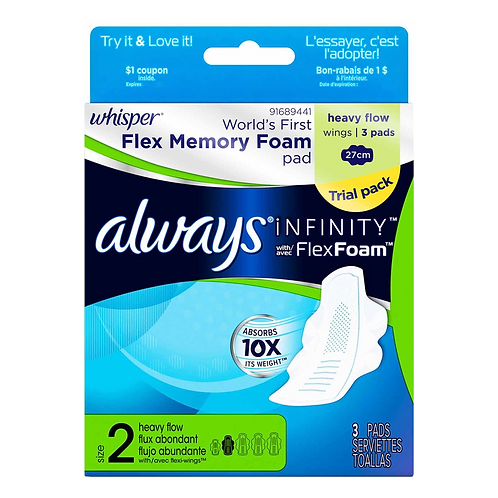 Always Infinity Flex Foam 3 pack