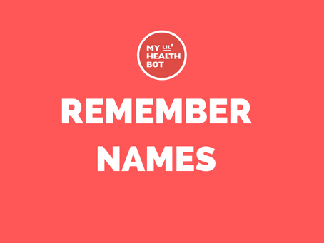 Welcome Week: Tricks to Remembering Names