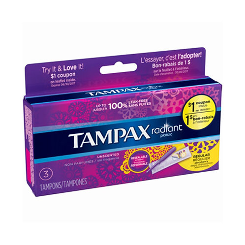 Tampax Radiant 3 pack