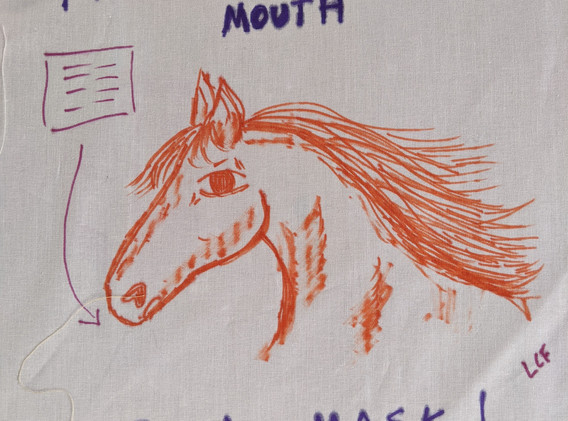 From the Horses Mouth Wear A Mask!